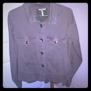 Military shirt jacket by BKE the buckle
